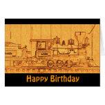Tren del modelo de escala de G - feliz cumpleaños Tarjeton