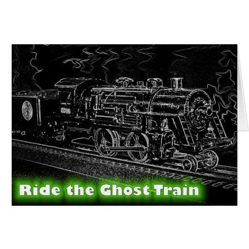 Tren del modelo de escala de O - monte el tren de  Felicitaciones