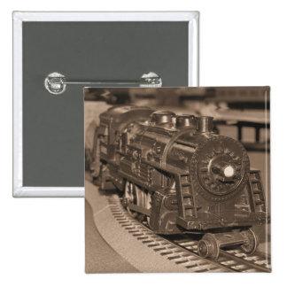 Tren del modelo de escala de O - tono de la sepia Pin Cuadrada 5 Cm