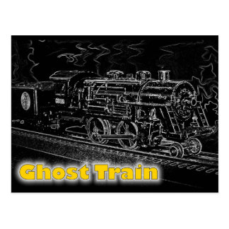 Tren del modelo de escala de O - tren de fantasma Tarjeta Postal