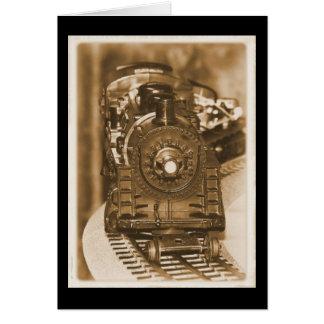 Tren del modelo de Lionel Tarjeta De Felicitación