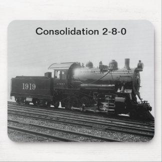 Tren del motor de vapor del vintage de la consolid mousepad