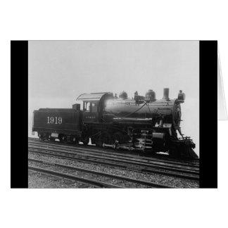 Tren del motor de vapor del vintage de la consolid tarjeta de felicitación