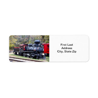 Tren del motor del carbón etiqueta de remite