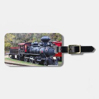 Tren del motor del carbón etiqueta de maleta