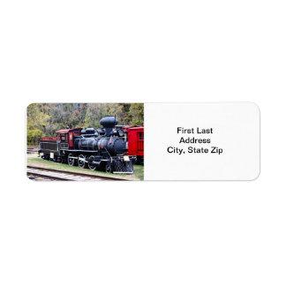 Tren del motor del carbón etiquetas de remite