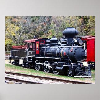 Tren del motor del carbón póster