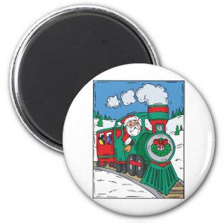Tren del navidad iman para frigorífico