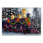Tren del navidad tarjetas