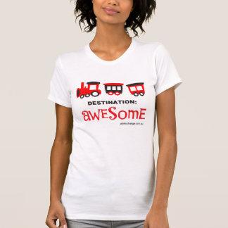 Tren del objetivo - destino: impresionante - tee shirts
