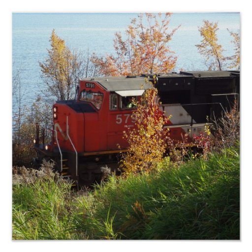 Tren del otoño impresiones