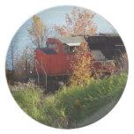 Tren del otoño platos de comidas