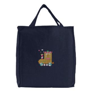 Tren del pan de jengibre bolsa de lienzo