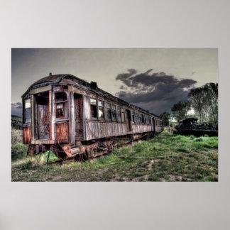 Tren del pueblo fantasma - Montana Póster