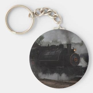 Tren del vapor del carbón llavero redondo tipo pin