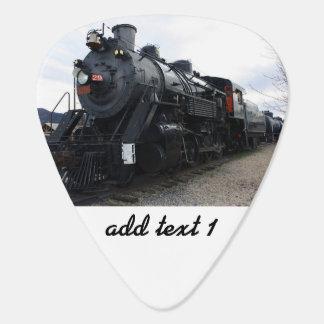 Tren del vapor del ferrocarril del vintage plumilla de guitarra