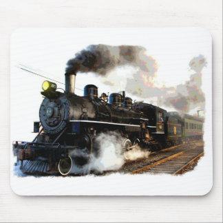 Tren del vapor del pasajero tapete de ratón
