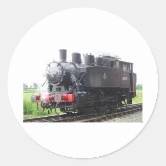 Tren del vapor del tanque del yanqui pegatina redonda