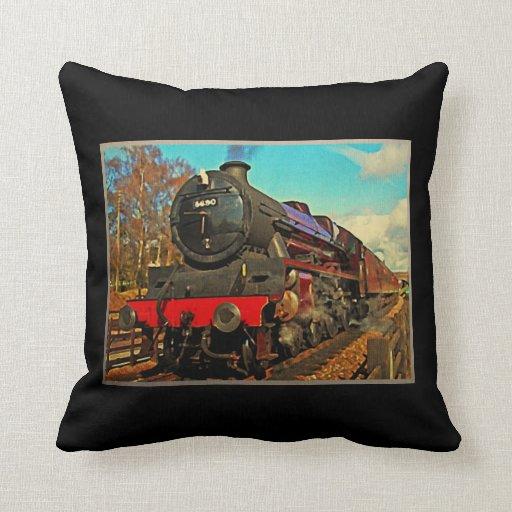 Tren del vapor del vintage almohadas