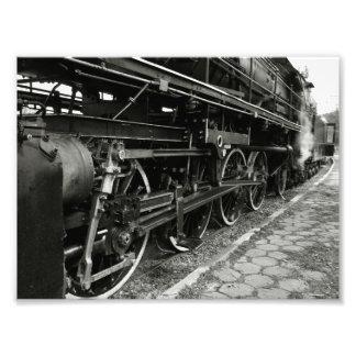 Tren del vapor del vintage impresion fotografica