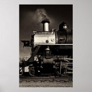 Tren del vapor del vintage poster