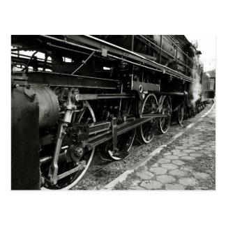 Tren del vapor del vintage postal