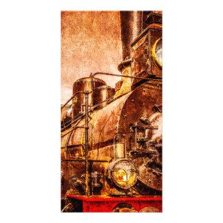 Tren del vapor del vintage tarjetas fotográficas personalizadas