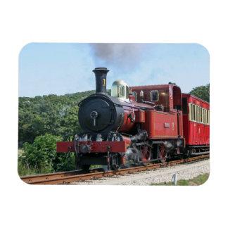 Tren del vapor en la isla de Castletown del hombre Imán De Vinilo