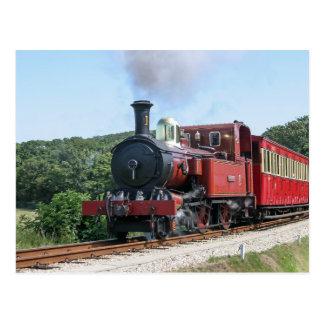 Tren del vapor en la isla de Castletown del hombre Tarjetas Postales