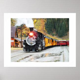 Tren del vapor en Silverton Impresiones