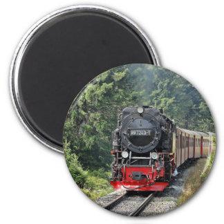 Tren del vapor imán redondo 5 cm