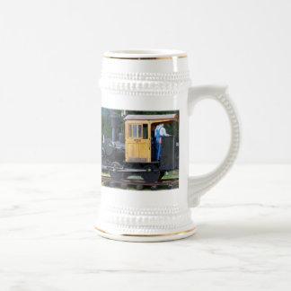 Tren del vapor jarra de cerveza