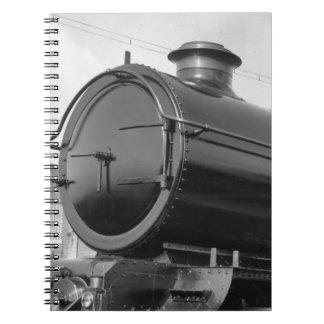 Tren del vapor cuaderno