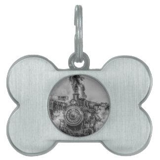 Tren del vapor placa mascota