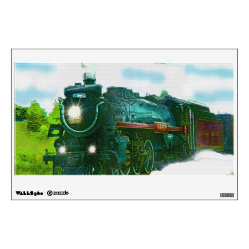 Tren del vapor para la etiqueta de la pared de los