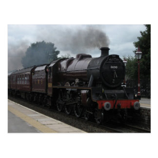 Tren del vapor - postal