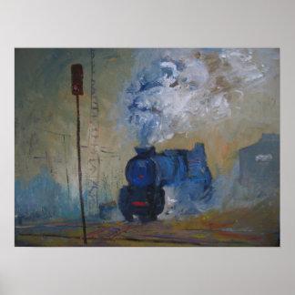 tren del vapor póster