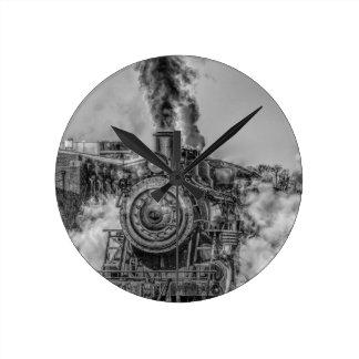 Tren del vapor relojes de pared