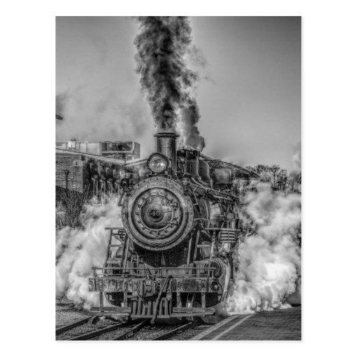 Tren del vapor tarjetas postales