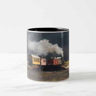 Tren del vapor taza de dos tonos