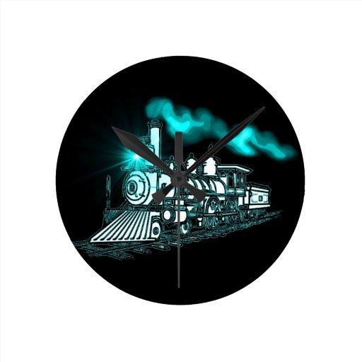 Tren del verde de Smokin Reloj Redondo Mediano