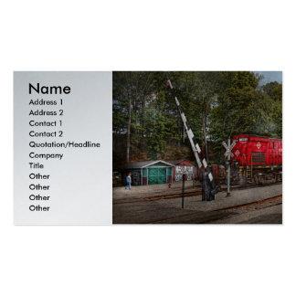 Tren - diesel - mire hacia fuera para la tarjetas de visita