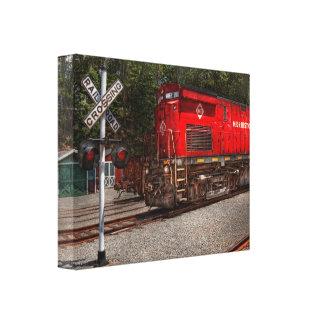 Tren - diesel - Morristown Erie Impresión En Lienzo Estirada
