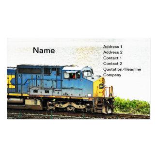 tren diesel tarjetas de visita