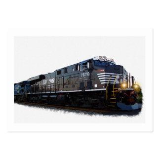 Tren diesel tarjetas de visita grandes