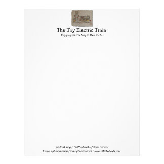 Tren eléctrico del juguete plantilla de membrete