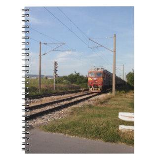 Tren eléctrico libro de apuntes con espiral