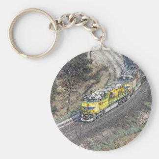 Tren en el lazo de Tehachapi Llaveros Personalizados