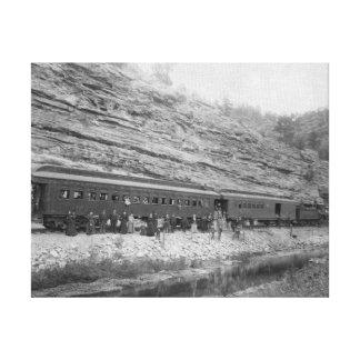Tren en la Burlington y el Missouri Impresión En Lona Estirada