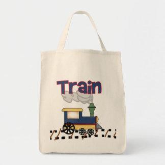 Tren en las camisetas y los regalos de la pista bolsas de mano